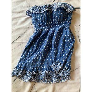 Blue summer ruffle dress
